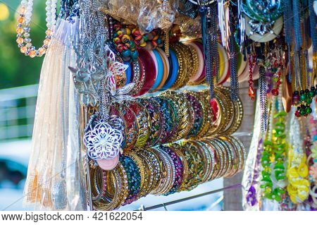 Gold And Silver Jewelry. Bangles, Diamond, Rings And Necklaces.