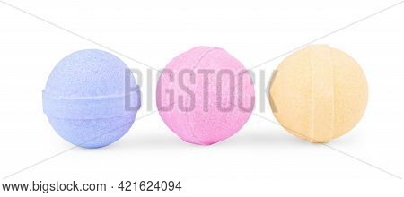 Aromatic Bath Bomb Isolated On White Healthy, Bomb, Soap, Multicolored, Safe, Bombs, Background, Nob
