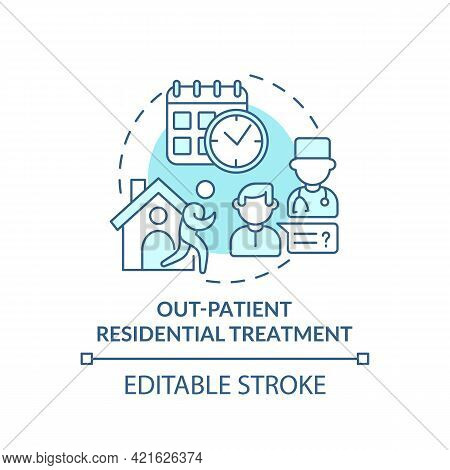 Out Patient Residential Treatment Concept Icon. Rehabilitation Types. Special Disease Cure. Patients
