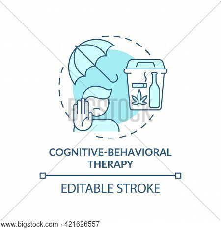 Cognitive Behavioral Therapy Concept Icon. Addiction Treatment Methods. Psychological Curing. Medici