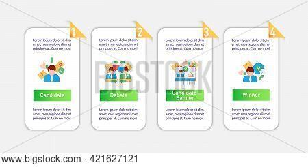 Election Vector Infographics. Voting, Candidate, Debate, Winner Template Design Elements.presentatio