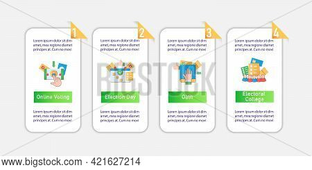 Election Vector Infographics. Online Voting, Election Day, Oath Template Design Elements.presentatio