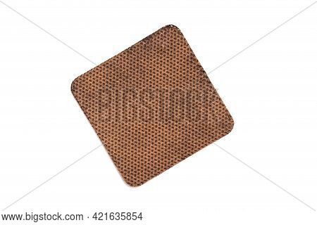 Anti-tobacco Plaster To Combat The Bad Habit Of Smoking On A White Background, Isolate, Close-up. Ni