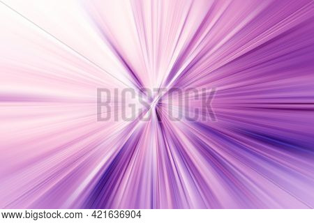 Abstract Radial Zoom Blur Surface Of  Lilac And White  Tones. Abstract  Soft Lilac Background With R