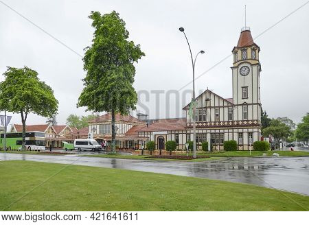 Rainy Impression At Rotorua In New Zealand