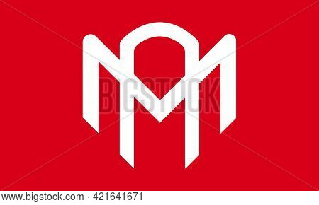 Minimalist Clean Logo Vector Of The Letter Ma