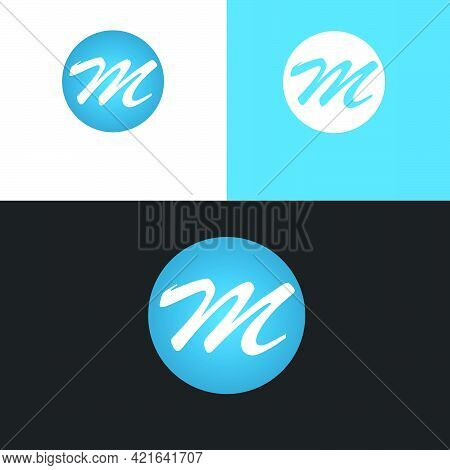 Simple Minimalist Professional Clean Circle Ball 3d Logo Letters M And T