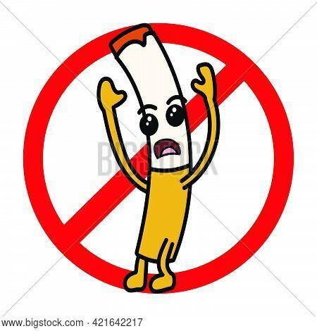 Mascot Cartoon Character Example Don't Smoke Here