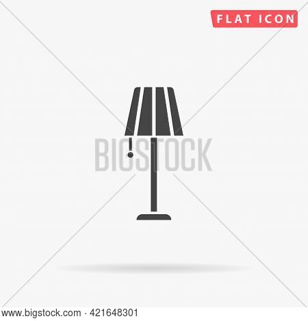 Floor Lamp Flat Vector Icon. Hand Drawn Style Design Illustrations.