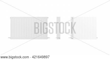 Radiator Mockup Isolated On A White Background - 3d Render