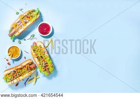 Various Hot Dogs Set