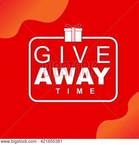Giveaway Time. Clean Web Banner Vector Illustration