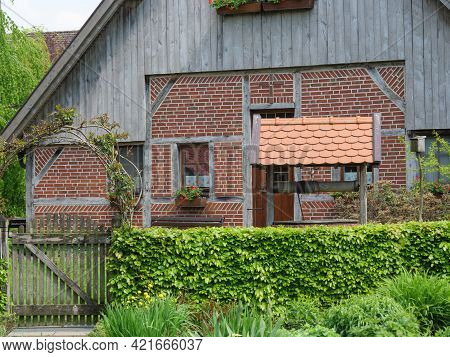 old truss house in the germany westphalia
