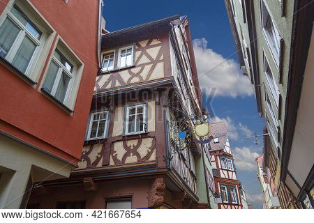 Ancient Wertheim Am Main Town, Germany - Medieval Town Centre, Colorful Half-timbered ( Fachwerk) Ho