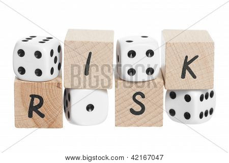 Wooden Blocks And Dice.