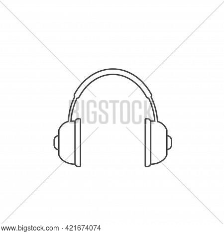 Headphones Outline Vector Icon Gaming Headphones Vector Concept Icon Or Symbol In Thin Line Style