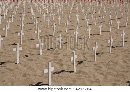 Graves On The Beach