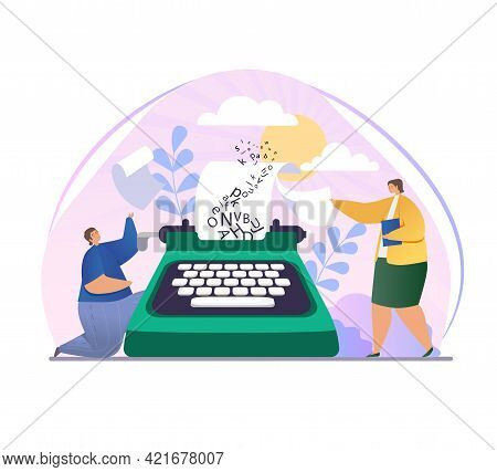 Blog Author, Creative Literature Writer Or Freelancer Tiny Person Ask Publisher For Promotion. Publi