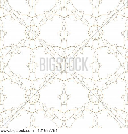 Seamless Pattern. Sensual Line Minimal Design. Vector Illustration Eps 10.