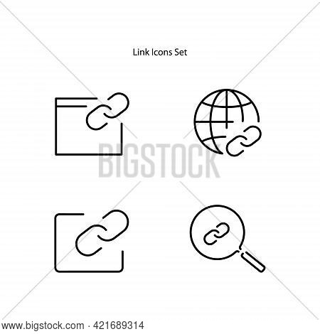 Link Icons Isolated On White Background. Link Icon Thin Line Outline Linear Link Symbol For Logo, We