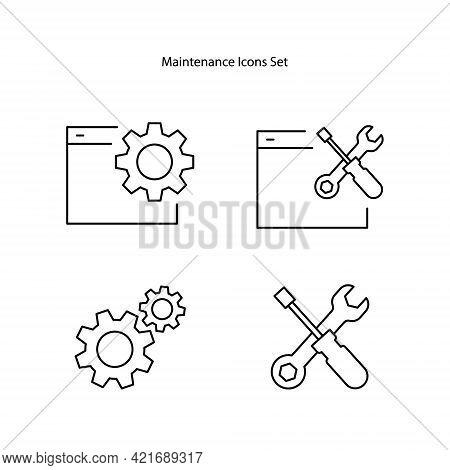 Maintenance Icons Isolated On White Background. Maintenance Icons Trendy And Modern Maintenance Symb