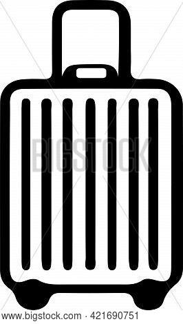 Baggage Icon Isolated On Background R, Voyage, Web, White, World