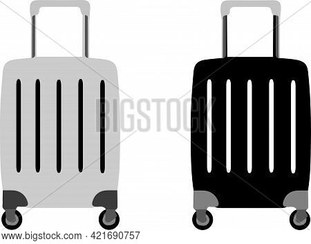 Baggage Icon Isolated On Background , Vector, Voyage, Web
