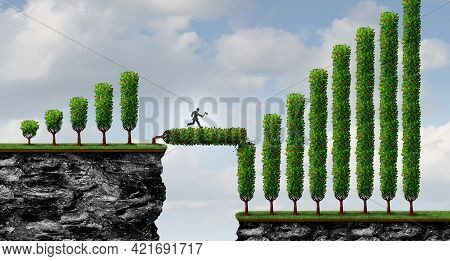 Growth Investing Strategy As A Business Concept To Increase Investor Capital As A Financial Metaphor