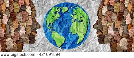 International Diversity Or Earth Day And International World Culture As A Concept Of Diversity And C