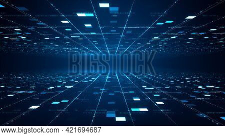 Abstract Technology Big Data Concept.