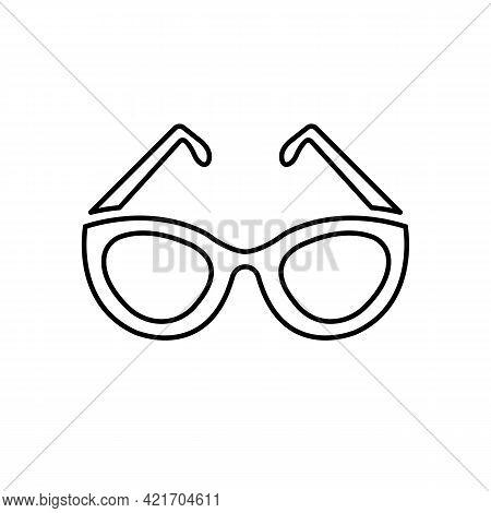 Eyeglasses Black Line Icon. Glasses For Eyesight Or Sunscreen. Trendy Flat Isolated Symbol Used For: