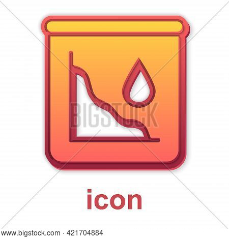 Gold Drop In Crude Oil Price Icon Isolated On White Background. Oil Industry Crisis Concept. Vector