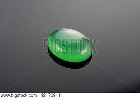 Green Agate Oval Cabochon, Green Onyx, Green Chalcedony. Microcrystalline Quartz Gemstone. Natural S