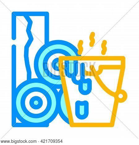 Bitumen Building Material Color Icon Vector. Bitumen Building Material Sign. Isolated Symbol Illustr