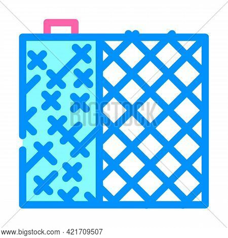 Grid Building Material Color Icon Vector. Grid Building Material Sign. Isolated Symbol Illustration