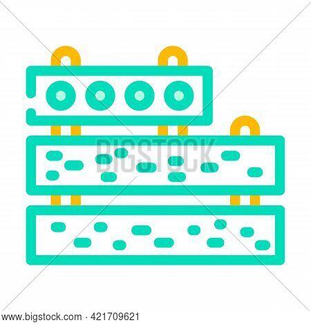 Concrete Plates Building Material Color Icon Vector. Concrete Plates Building Material Sign. Isolate