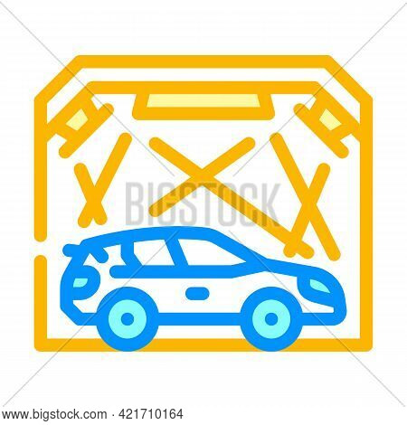 Garage Box For Car Polishing Color Icon Vector. Garage Box For Car Polishing Sign. Isolated Symbol I