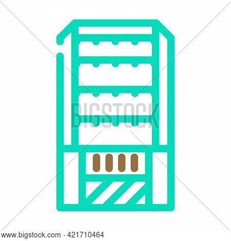 Household Composter Color Icon Vector. Household Composter Sign. Isolated Symbol Illustration