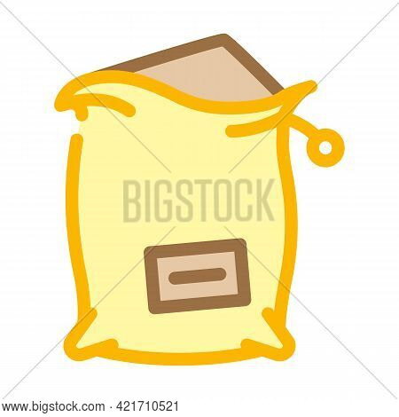 Bag Compost Color Icon Vector. Bag Compost Sign. Isolated Symbol Illustration