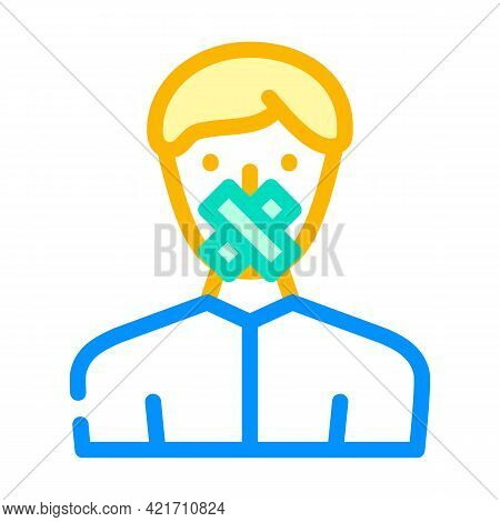 Closed Money Color Icon Vector. Closed Money Sign. Isolated Symbol Illustration