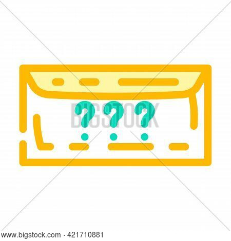 Envelope With Purchase Color Icon Vector. Envelope With Purchase Sign. Isolated Symbol Illustration