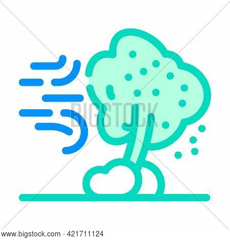 Wind Disaster Color Icon Vector. Wind Disaster Sign. Isolated Symbol Illustration