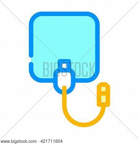 Electrode Of Stimulator Color Icon Vector. Electrode Of Stimulator Sign. Isolated Symbol Illustratio