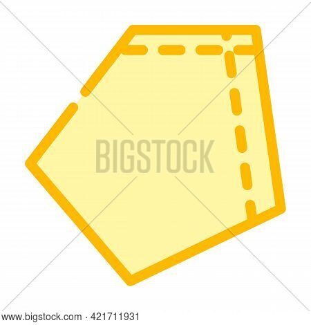 Patch Pocket For Workwear Color Icon Vector. Patch Pocket For Workwear Sign. Isolated Symbol Illustr