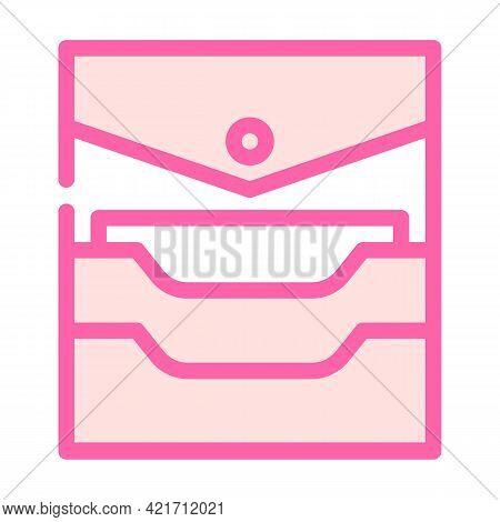 Credit Card Storage Pocket Color Icon Vector. Credit Card Storage Pocket Sign. Isolated Symbol Illus