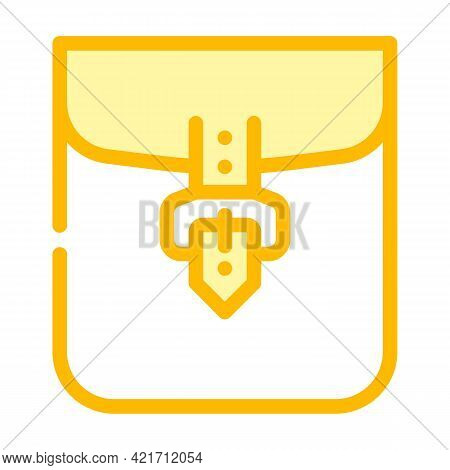 Clasp Pocket Color Icon Vector. Clasp Pocket Sign. Isolated Symbol Illustration