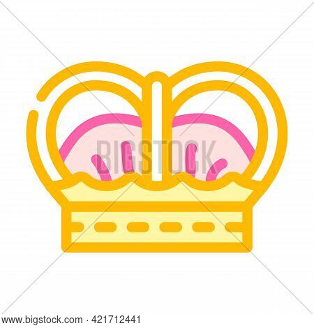 Crown Spain King Color Icon Vector. Crown Spain King Sign. Isolated Symbol Illustration