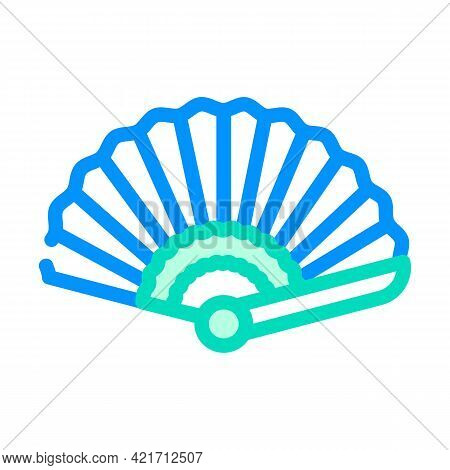 Fan Spain Color Icon Vector. Fan Spain Sign. Isolated Symbol Illustration