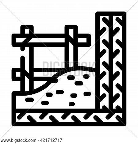 Armature Building Material Line Icon Vector. Armature Building Material Sign. Isolated Contour Symbo