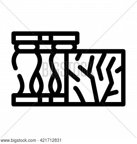 Marble Building Material Line Icon Vector. Marble Building Material Sign. Isolated Contour Symbol Bl